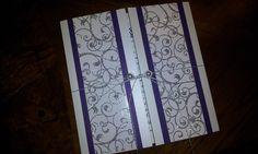 3 Layer Gatefold Wedding Invitation with Silver swirl. Simply elegant!