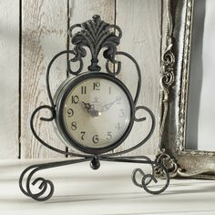 #zegar #clock #watch #decoration #dekoracje  #home #interior #design #ideas Zegar Albert metal, 21x5,5x26cm - Dekoria