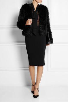 Altuzarra for Target jacket and blouse, Aquazzura shoes, Pierre Balmain skirt, Loewe bag