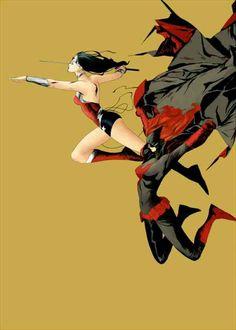 Wonder Woman and Batwoman by Jae Lee