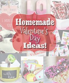 Homemade Valentine's Day Ideas! Freebies too!  By ImperfectlyHappy.com  #valentinesday #diy #homemade #crafts #gifts #free
