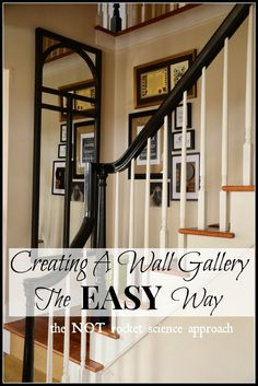 Love the banister and sisal stair rugs!Creating a wall gallery the EASY way! Home Decor Wall Art, Diy Home Decor, Home Goods Decor, Inspiration Wall, Decorating Your Home, Decorating Ideas, Decor Ideas, Decoration, Home Projects