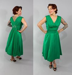 1950s Vintage DressGOLLY GEE Spring Fashion by stutterinmama, $186.00