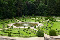 Catherine de Medici's Garden, Chateau de Chenonceau, Chenonceaux, Indre-et-Loire, Loire Valley, France