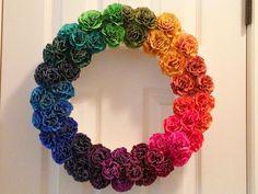 Color wheel wreath