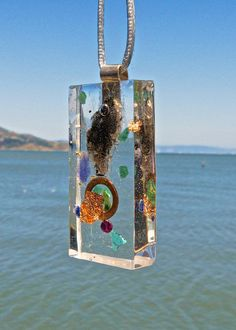 SMOKY HERKIMER Orgone Pendant with Amethyst, Kingman Turquoise, Sodalite, Aventurine. EMF Protection Orgonite.