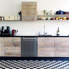 Keukenkasten: van oud hout, Pin voor de Libelle Moodboard keukenwedstrijd #libelle @Libelle