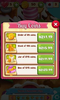 Cookie Jam - Buy Premium Currency Screen - Match 3 Game - iOS Game - Android Game - UI - Game Interface - Game HUD - Game Art