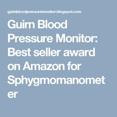 Guirn Blood Pressure Monitor: Best seller award on Amazon for Sphygmomanometer