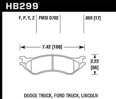 NEW Hawk Performance Disc Brake Pad Dodge Ram 3500 2500 1500 Durango Ford FS ol