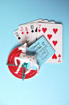Reindeer Games Night Invitations   Oh Happy Day! - Cutest idea ever for a game night during the holidays!