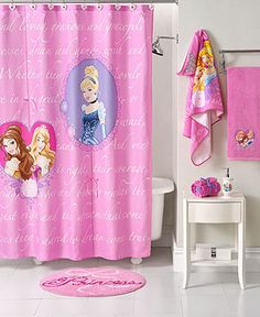 Disney Bath Accessories Princess Timeless Shower Curtain