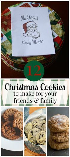 12 Christmas Cookies to make for your friends and family. Perfect for Cookie Exchanges, holiday parties and everything in between!