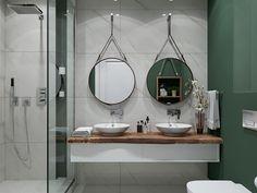 Móvel, lavatórios e espelhos