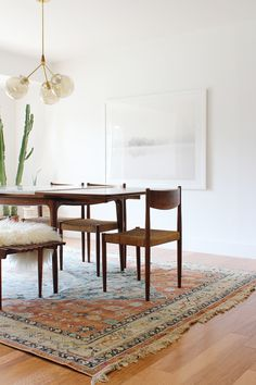 Beautiful mid century modern dining room