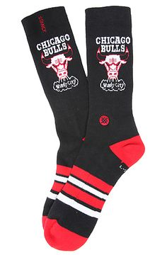 The Chicago Bulls NBA Hardwood Classic Collection Socks in Black by Stance Socks use rep code: OLIVE for 20% off