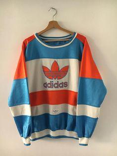 Adidas BigLogo Vintage 90er Jahre Sweatshirt Rundhals seltenes