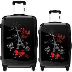 Paris chic by Ikase, Multicolor Harside Spinner Luggage Set, Multi Calpak Luggage, Cute Luggage, Luggage Sizes, Best Luggage, Travel Luggage, Travel Bags, Paris Travel, Luxury Luggage, Hard Sided Luggage