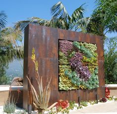 2z-vertical-garden In a case of art imitating life, wall gardens, or green walls, mix stunning aesthetic sensibilities with incredible space utilization.
