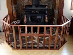 Fence for the wood stove (keep small kids away from it)