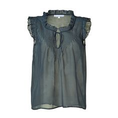 PAUL & JOE SISTER Petrol Sleeveless Top found on Polyvore- I want to make a top like this for summer.