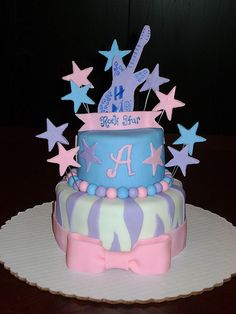 The best birthday present to your teenage child, who is a big fan of Hannah Montana, would definitely be a Hannah Montana themed cake. Birthday Invitations Kids, Birthday Cakes, Birthday Ideas, Rock Star Cakes, Cupcake Cookies, Cupcakes, Cake Decorating, Decorating Ideas, Good Birthday Presents