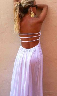 Backless summer maxi
