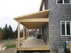 cover porch designs   ... much need covered porch to a salt box style home prior to the covered