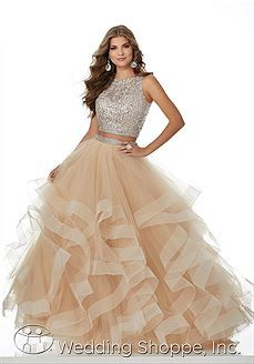 Sparkly Two Piece Champagne Long Prom Dress with Open Back, Shop plus-sized prom dresses for curvy figures and plus-size party dresses. Ball gowns for prom in plus sizes and short plus-sized prom dresses for Gold Prom Dresses, Indian Gowns Dresses, Prom Dresses 2018, Ball Gowns Prom, 15 Dresses, Evening Dresses, Fashion Dresses, Dress Outfits, Formal Dresses
