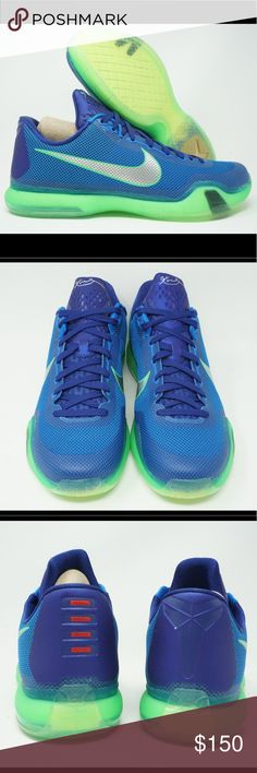f90d0145e41 Nike Kobe X 10 Emerald City Mens Basketball 100% Authentic Sneakers New  Never worn Excellent