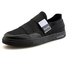 Canvas Breathable Skateboarding Shoes Flat Slip On Casual Trainers (€20) ❤ liked on Polyvore featuring men's fashion, men's shoes, men's sneakers, mens canvas sneakers, mens flat shoes, mens round toe shoes, mens slip on shoes and mens breathable shoes