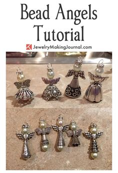 Mickey's Bead Angels Tutorial by Colleen - featured on Jewelry Making Journal