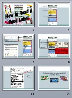 Food Label Reading Lesson + PwrPt: Is This Product is Healthy?