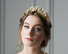 Laurel Leaf Flower Crown, Gold Leaf Tiara, Gold Leaf Headpiece, Leaf crown, Flower crown, bridal tiara, Leaf Headband, bohemian, boho #110 Bridal Crown, Bridal Tiara, Auckland, Gold Leaf Crown, Gold Tiara, Laurel Leaves, Crown Flower, Hair Jewels, Metal Headbands