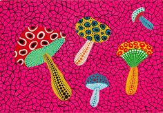 The first selection of pictures bellow are the original art works of the wonderful Yayoi Kusama.