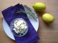 Lemon, Thyme and Goat Cheese Ice Cream