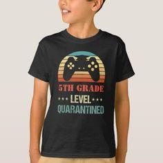 Grade Level Quarantined Shirt Quarantine T-Shirt Graduation Gifts For Boys, Graduation Shirts, Quote Tshirts, Tee Shirts, Gamer T Shirt, Retro Shirts, 5th Grades, Graphic Tees, Graphic Design
