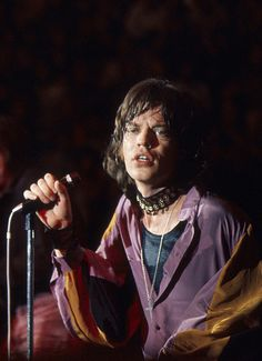 Mick Jagger on stage in Lyon, France, October 1970. Photo by Dominic Lamblin.