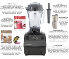 "Buy Vitamix Aspire with Stainless Steel Smoothie Cup, Vitamix and Blenders from The Shopping Channel, Canada's home shopping network - Online Shopping for Canadians . minus the stupid ""smoothieCup"" . The Shopping Channel, Home Shopping Network, Smoothie Cup, Collar Designs, Blenders, Stupid, Online Shopping, Xmas, Stainless Steel"