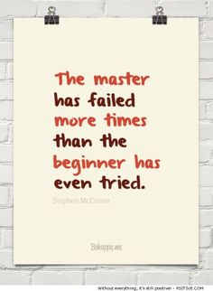 The Master Has Failed motivational quote (way more motivational and inspirational words @ Psitive.com)