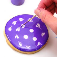 How to Decorate with Royal Icing. Apparently, the included #recipe is awesome...dries into a hard, smooth, matte finish.