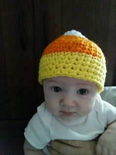 Crochet Baby Candy Corn Hat by LEACreations on Etsy, $6.00