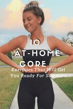10 At-Home Core Exercises That Will Get You Ready For Summer Fitness Goals, Fitness Tips, Fitness Motivation, Health Fitness, Boat Pose, Core Exercises, Leg Raises, Core Muscles, Yoga Session