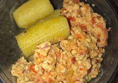 Boiled Plantain and Scrambled egg Recipe by Naya Njemz Egg Recipes, Great Recipes, Ways To Cook Eggs, Broken Egg, Nice Dinner, Spanish Food, Scrambled Eggs, Vegetarian