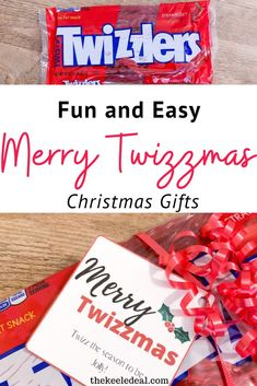 Fun and Easy Merry Twizzmas Christmas Gifts Best Christmas Gifts, Holiday Gifts, Christmas Crafts, Christmas Decorations, Neighbor Gifts, Candy Gifts, Stocking Stuffers, Merry, Fun