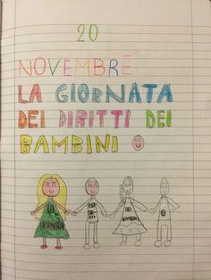 20 novembre: Giornata Universale Dei Diritti dei Bambini Il 20 novembre è l'anniversario della Convenzione delle Nazioni Unite sui diritti del fanciullo November, Pick One, Blog, Nazioni Unite, Bullet Journal, Teaching, Education, Cards, Instagram