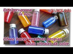 COMO FABRICAR NUESTRA PROPIA LACA VITRAL DE COLOR Parte 2-3 - YouTube Pasta Flexible, Painting Techniques, Diy Painting, Decoupage, Art Supplies, Origami, Diy And Crafts, Clay, Hacks