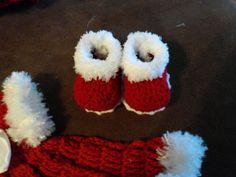 Traje de vestido de bebé de Navidad.. por BabyBeautiful801 en Etsy