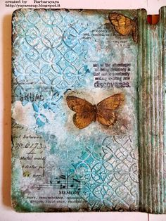 Art Journal Page by Barbara for the Simon Says Stamp Monday challenge (Inky Backgrounds)