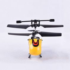 HW7001 3.5CH Mini Remote Control Gyro Gyroscope RC Helicopter - Yellow / Red